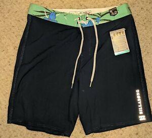 NWT Mens, Billabong Size 32 Platinum Recycler Board Shorts Swim Trunks