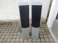 2x ELAC 105 High-End Stereo Lautsprecher / Boxen, Silber/Grau, 2 Jahre Garantie