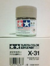 Tamiya acrylic paint X31 Titanium gold 10ml Mini.