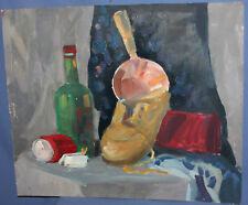 Expressionist oil painting still life