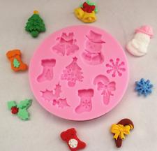 Silicone Fondant Mold Cake Decorating DIY Chocolate Christmas Baking Mould Tool