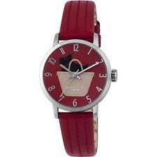 Radley Border Red Leather Strap Ladies Watch RY2287