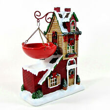 "Yankee Candle RED HOLIDAY HOUSE 9.5"" Wax Warmer Tart Burner Christmas 1084392"
