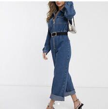 ASOS DESIGN Denim Jumpsuit In Midwash Blue Brand New
