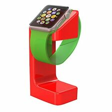 Plixio Apple Watch Stand & Charging Dock Holder for All Apple iWatch 38/42mm Red