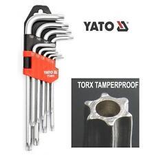 Yato torx tamper proof sicurezza punte con foro,T10-T50 set chiavi a brugola