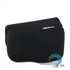 Black Neoprene Soft Camera Protect Case Bag Cover For Sony A6000 16-50mm Lens
