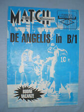 RIVISTA MATCH RAVENNA anno I n. 23 del 29/6/1989 DE ANGELIS in B/1 BEACK VOLLEY
