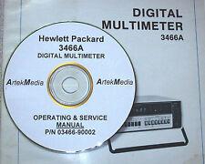 HP HEWLETT PACKARD 3466A Digital Mulitmeter Operating & Service Manual