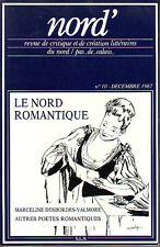 Nord' - Revue de critique et de création littéraires du Nord / Pas-de-Calais