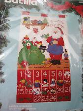 Bucilla Felt Applique Christmas ADVENT CALENDAR Craft Kit,SANTA'S WORKSHOP,82852
