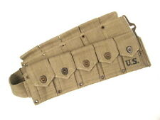 """WWII US Army  M1923 Cartridge Ammo Belt for M1 Garand Waist to 48"""" 1942 - Repro"""
