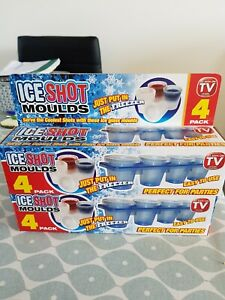 Ice shot glass moulds x 8
