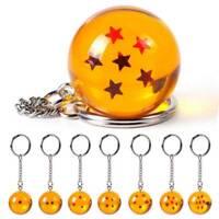Dragon Ball Z DBZ Cosplay Crystal Ball 7 Stars Keychain Keyring Pendant Gifts TR