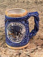 Vintage Japan Lusterware Mug New Orleans Bourbon Street Louisiana 3-D Souvenir