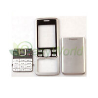 New Full Housing Cover Case Front + Back + Keypad Metal For Nokia 6300 Silver