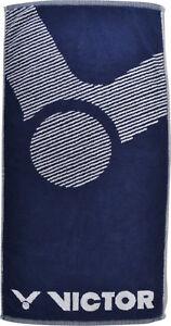 **REDUCED** VICTOR Towel Blue/White 100% Cotton 50 x 100cm