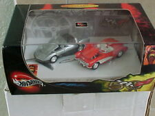 Hot Wheels 100% 50 Years of Corvette 2 car set 1957 & 1982