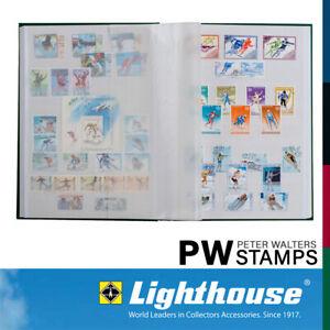 Lighthouse Stockbook BASIC 32 White Pages Black Cover