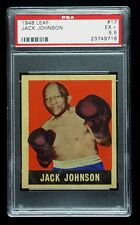 JACK JOHNSON 1948 LEAF PSA 5.5  EX & NO QUALIFIERS HALL OF FAME BOXER