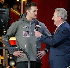 Nike TOM BRADY Super Bowl 51 LI Media Day Quarter Zip Hoodie Jacket Mens L LARGE