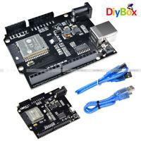 ESP32 4MB Flash WiFi Development Board+Bluetooth+UNO D1 R32 CH340 USB Shield