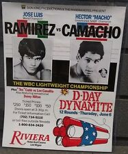 "RARE- JOSE LUIS RAMIREZ vs HECTOR ""MACHO"" CAMACHO FIGHT CARD POSTER JUNE 6(C6/T)"