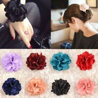 Chic Elastic Rope Accessories Hair Bands Ponytail Holder Rose Flower Beauty Girl