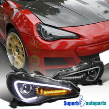 for 12-17 Toyota 86 Scion FR-S Black Projector LED DRL Headlights Signal Lamp