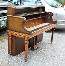 Antique Piano Spinet Desk Unique Grand Piano Legs and Lyre With original keys