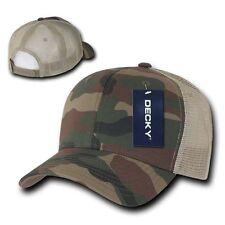 Trucker Hat Mesh Curved Bill Baseball Cap Woodland Camo Coyote Tan Tactical