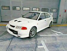 MITSUBISHI Lancer EVO 6 VI Rallye white weiss Street 1998 IXO NEU NEW 1:18