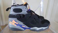 ⚡️Air Jordan 8 Retro Phoenix Suns 305368 043 black purple orange size 7Y Clean
