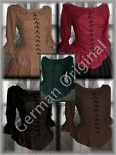 Medieval Steampunk Western Laced Bodice Blouse 5 Colors Cotton Reenactment Renn