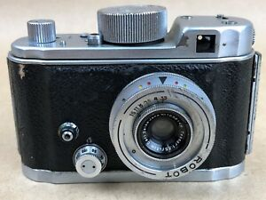Robot II Vintage Camera with carl zeiss 3cm f/3.5 Tessar 30mm Nice - Works