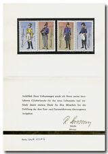 DDR 1989, Ministerkarte zum Geburtstag mit Unterschrift