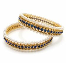 Pearl (Imitation) Gold Bangle Indian Jewellery