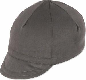 Pace Sportswear Euro Soft Bill Cycling Cap: Graphite, XL