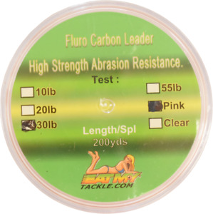Pink Fluorocarbon Fishing Leader - 200 Yards | 10, 20, 30, or 55 lbs.