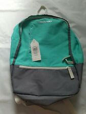 Women' s Eastsport Backpack Travel Bag, New with Tags, Teal Gray
