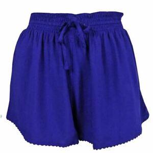 Ex M&S Women Girls Blue Beach Shorts Sleep Shorts Lounge Shorts Sizes 6 - 16