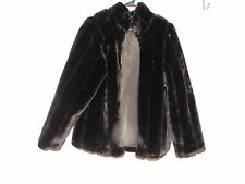 Fur Coat ~ Black Faux Fur Coat or Jacket~ size Large ~ Super Great for Holidays