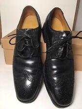 Men's COLE HAAN Nike Air Giraldo Black Leather Wingtip Oxford Dress Shoes 9M