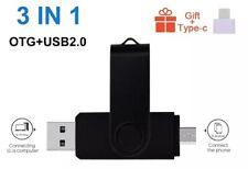 Pendrive OTG Chiavetta USB 2.0 PC/Smartphone Flash Drive 32GB + Adattatore USB-C