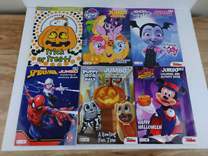 Lot of 6 Bendon Jumbo Coloring & Activity Books (Peasnuts, Mickey Mouse & More)