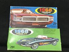 Vintage 1968 Palmer Plastics Models Oldsmobile Toronado & Jaguar XKE 1/32