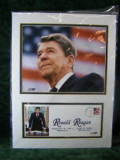 Ronald Reagan 1911 2004 Print with Stamped Marked Post Card New  Sealed Package