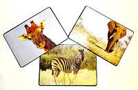 6 Stück Tischset / Platzset / Platzdeckchen / Afrika/Tiere/abwaschbar/Platzmatte
