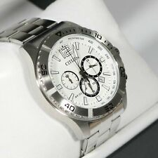 Citizen Men's Chronograph Quartz Stainless Steel Bracelet Watch AN8120-57A