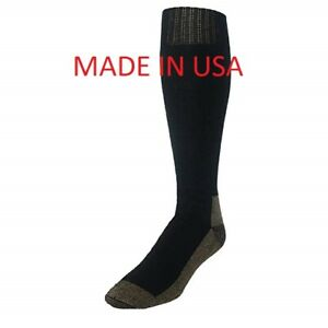 Copper Sole Men's Extended Size Odor Control Over the Calf Boot Socks USA